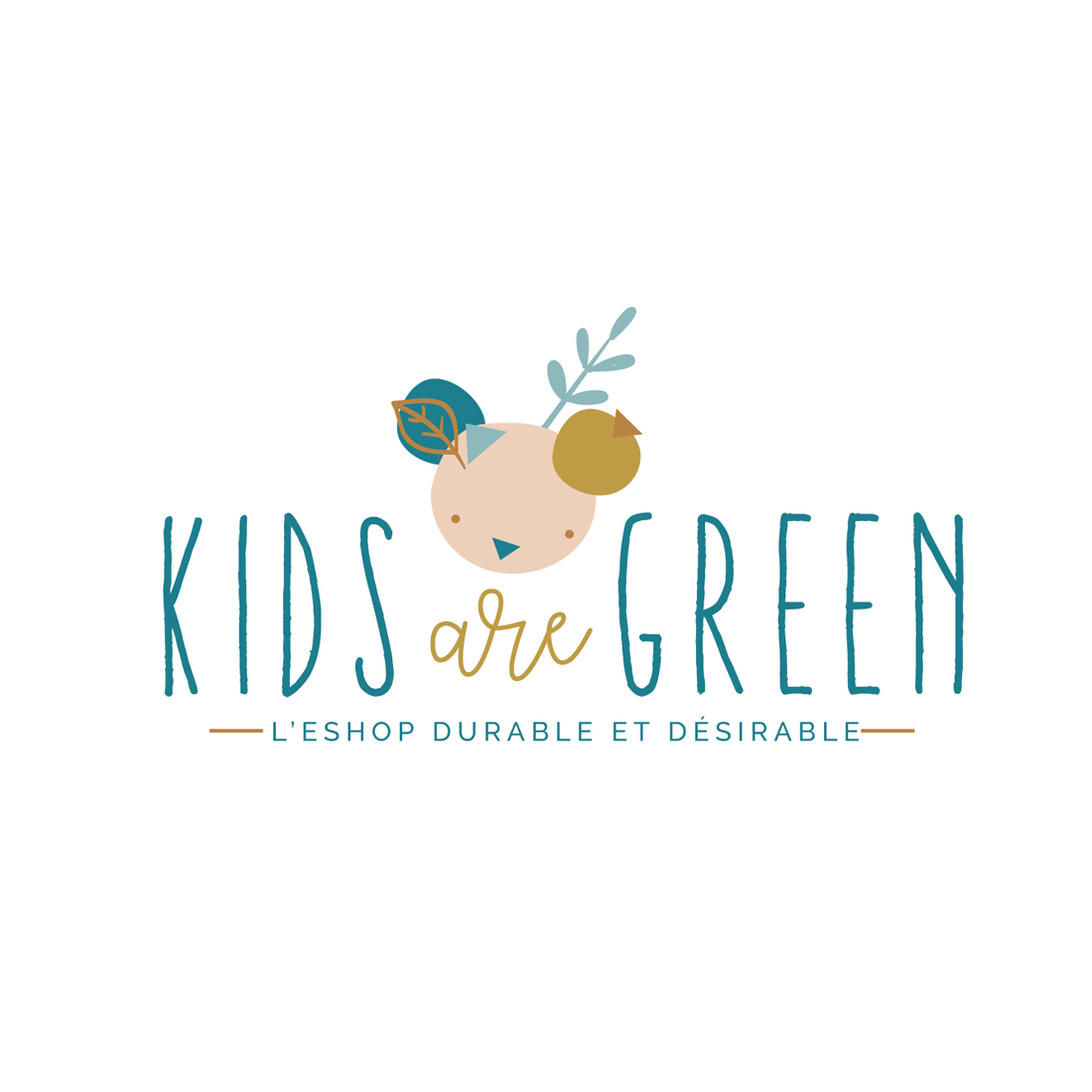 identite visuelle kids are green Chic studio