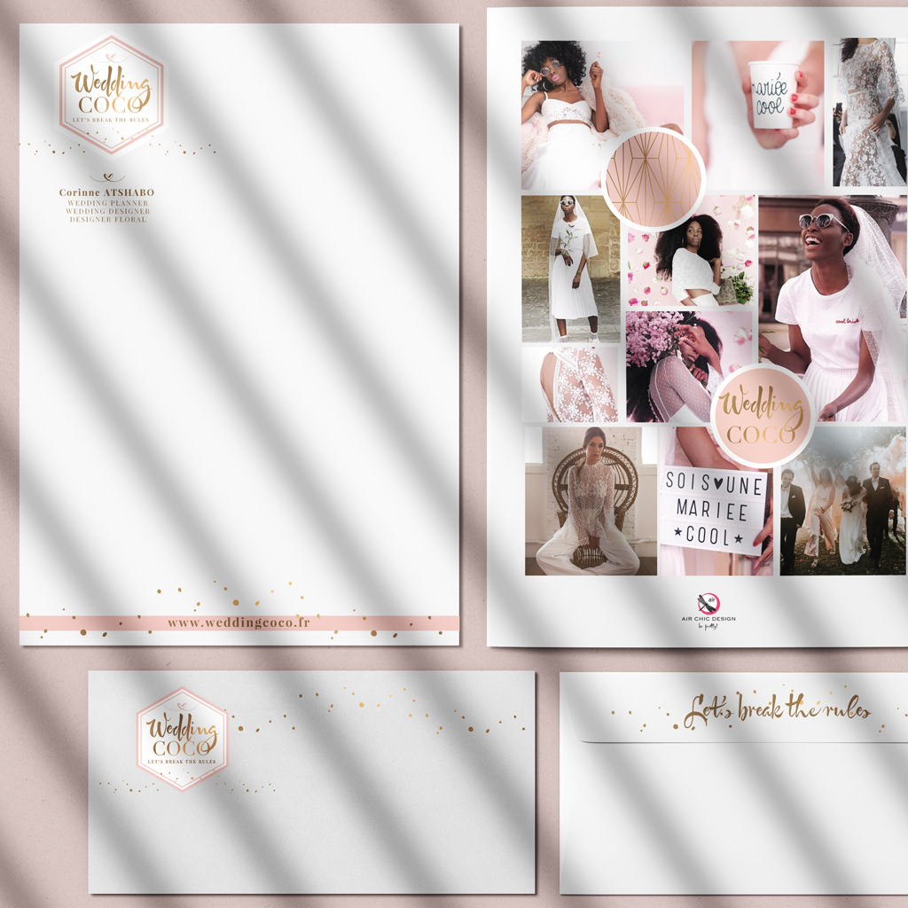 logotype coco wedding Chic studio