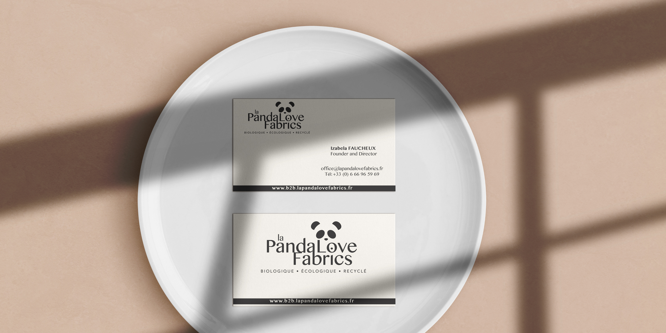 Branding marque panda love fabrics Chic Studio