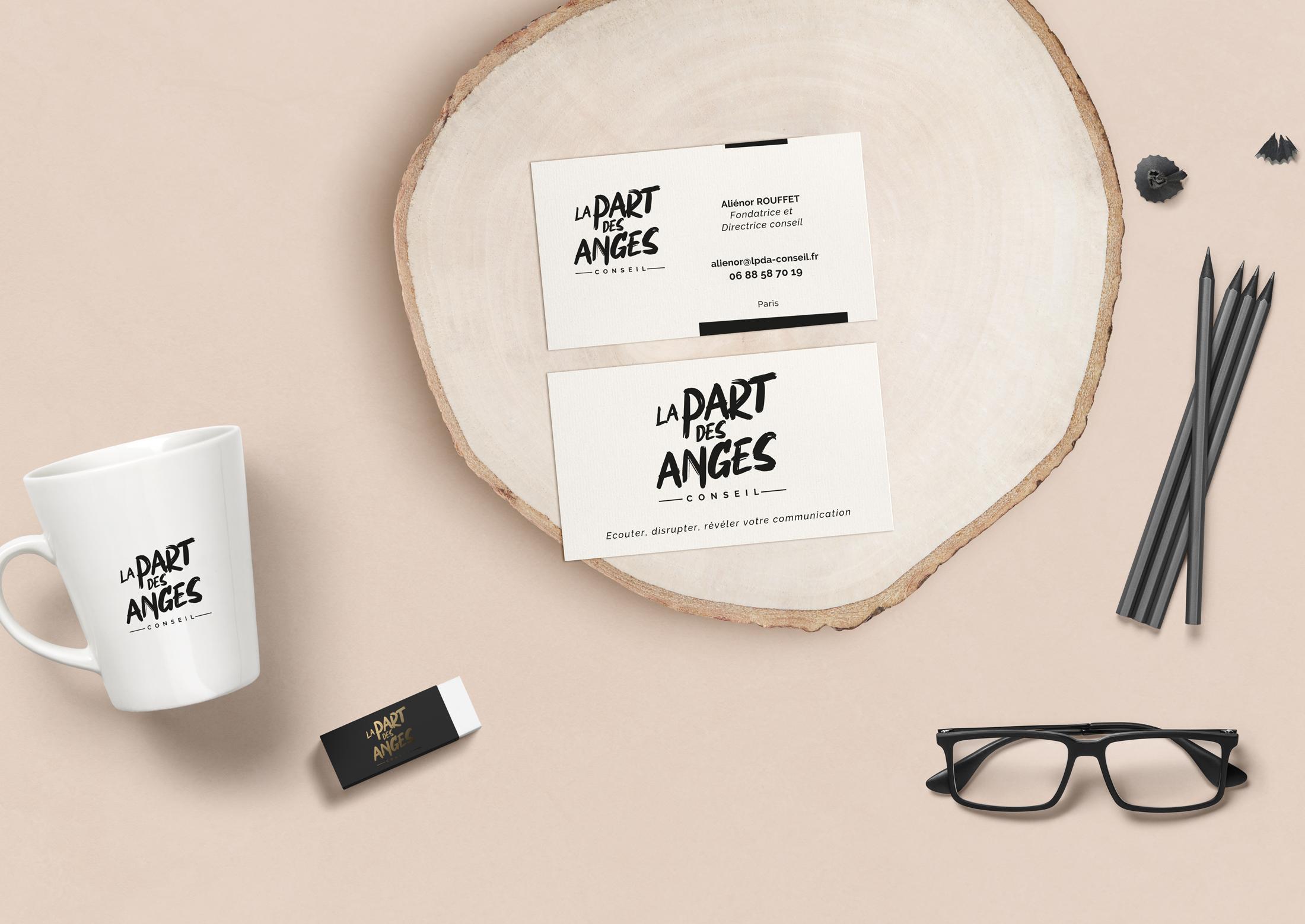 identite visuelle la part des anges Chic Studio