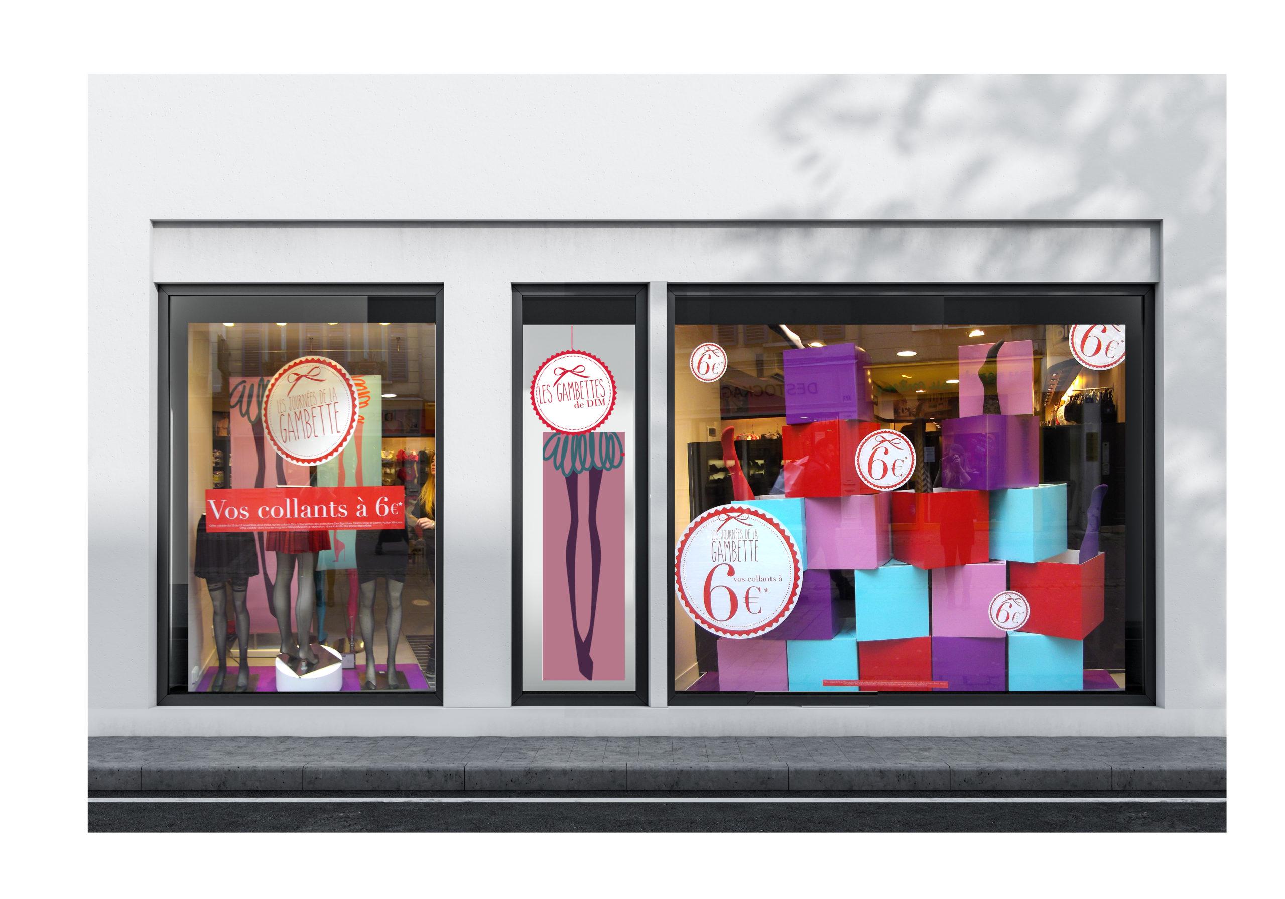 merchandising vitrine DIM Chic Studio