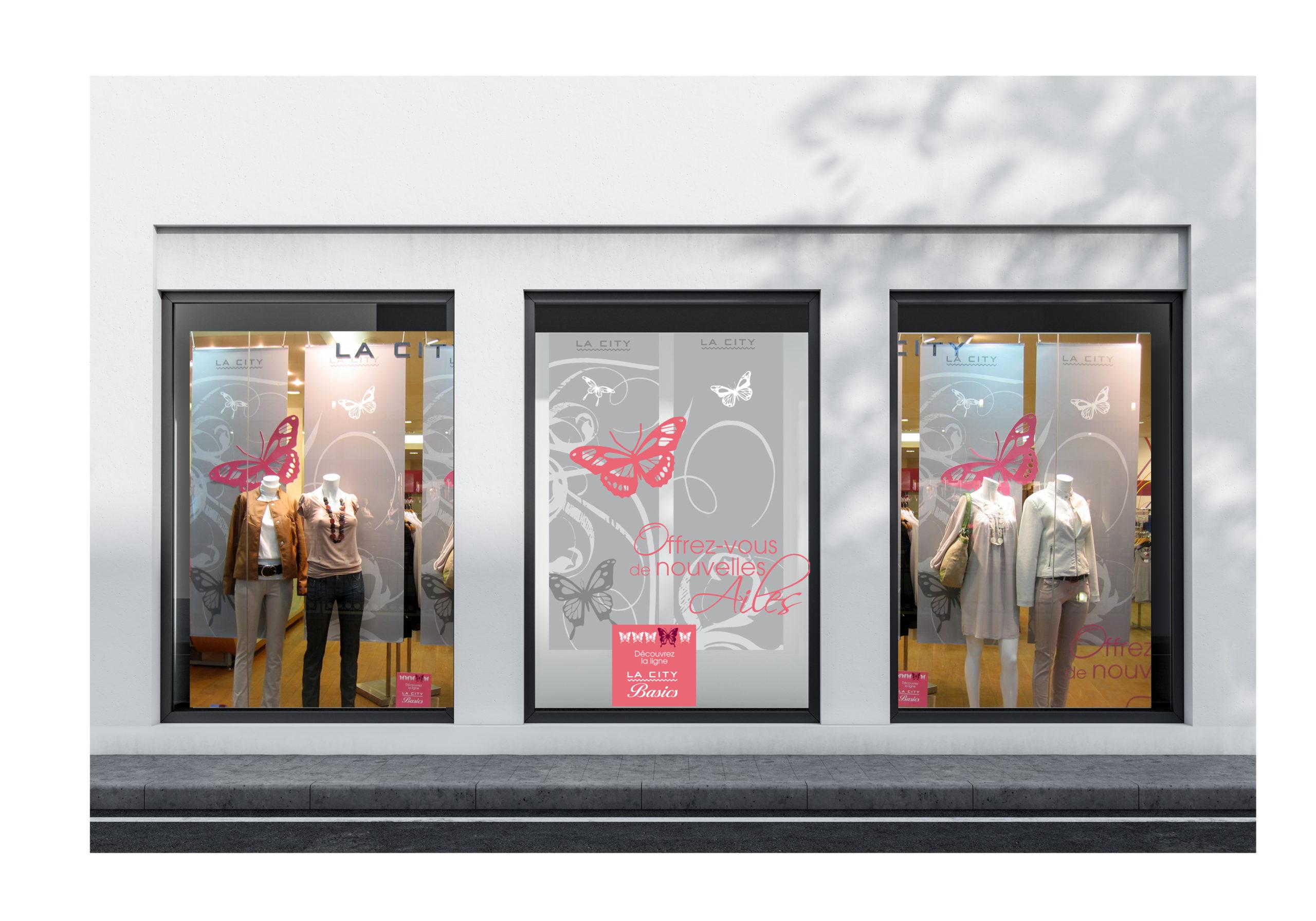 merchandising vitrine la city chic studio