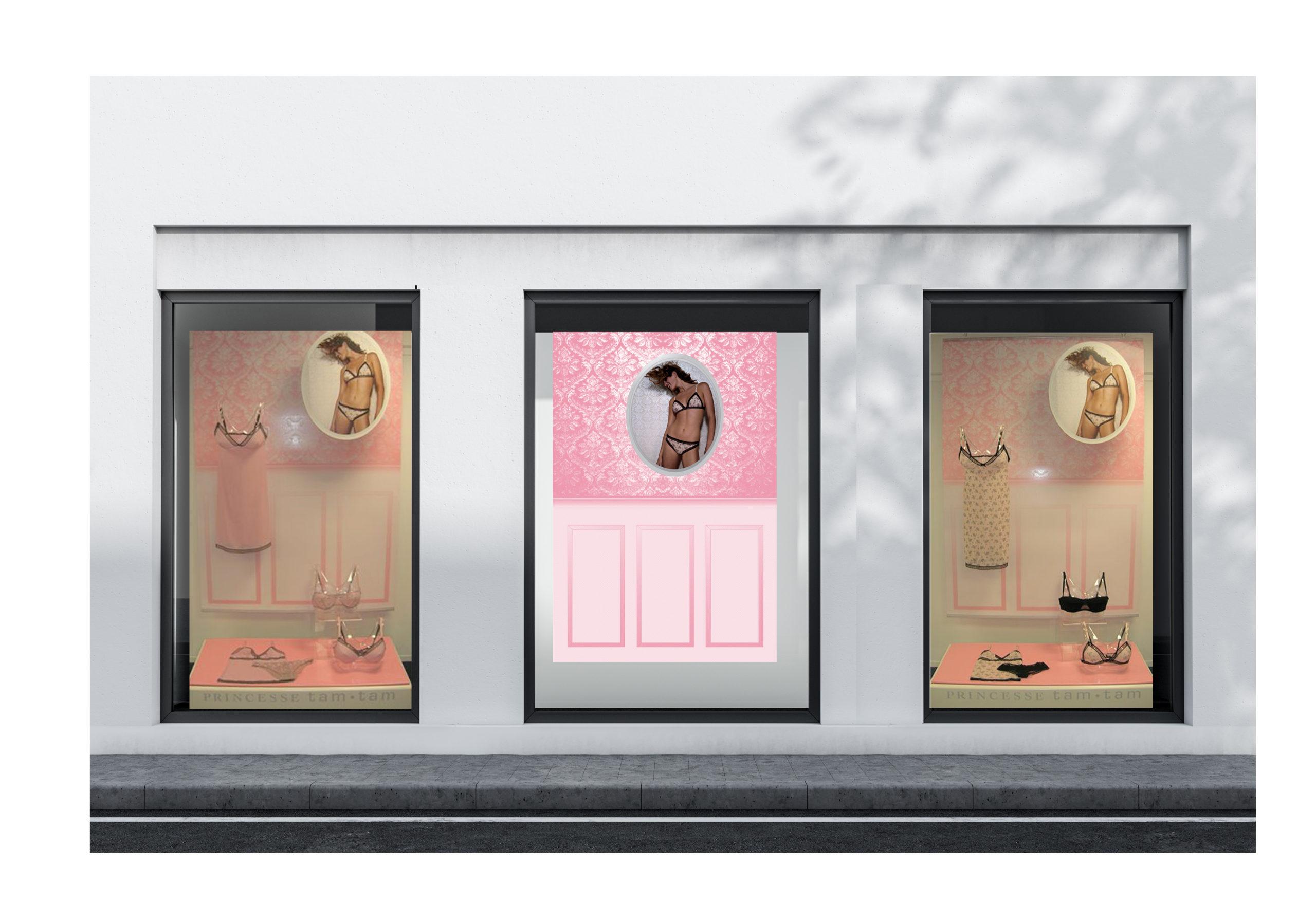 merchandising vitrine princesse tam tam Chic Studio